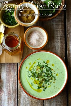 This Spring Onion Raita gets ready in less than 20 minutes. Who doesn't like to save such real fast recipes? All vegetarian, healthy and 100% gluten-free this Spring Onion Raita is one of my current favorite raita recipes. funfoodfrolic.com