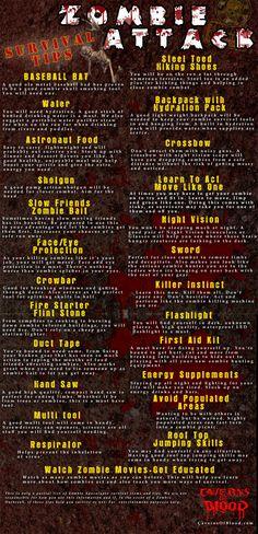 How to survive the Zombie Apocalypse - Zombie Survivor Tips