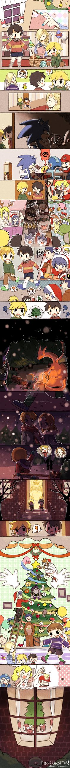 Super Smash Bros 4 - Merry Christmas! by Creamsouffle on DeviantArt