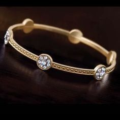Stauer Bangle Nwt – Jewelry And Accessories Gold Bangles Design, Gold Jewellery Design, Designer Bangles, Resin Jewellery, Diamond Jewellery, Gold Bangle Bracelet, Diamond Bangle, Jewelry Bracelets, Ladies Bracelet