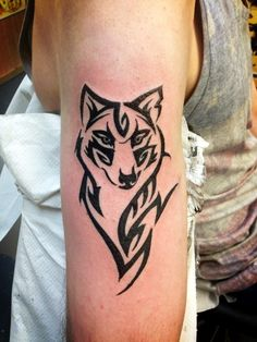 8f3afa4d92e15 How to Get the Best Tribal Wolf Tattoo Designs? : The wolf tattoo art. The  wolf tattoo art in tribal style. beautiful back tattoos,celtic wolf tattoo,tribal  ...