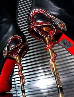 Gianmarco Lorenzi snake heels These are unique!!!
