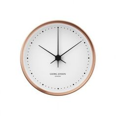 SPRING COLOR TREND: ROSE GOLD | Georg Jensen Wall Clock | #walldecor