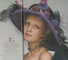 Twiggy in a City Lights hat 1970s