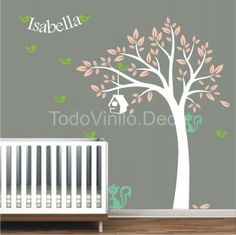 Vinilos on pinterest white trees tree wall decals and - Vinilos infantiles arboles ...