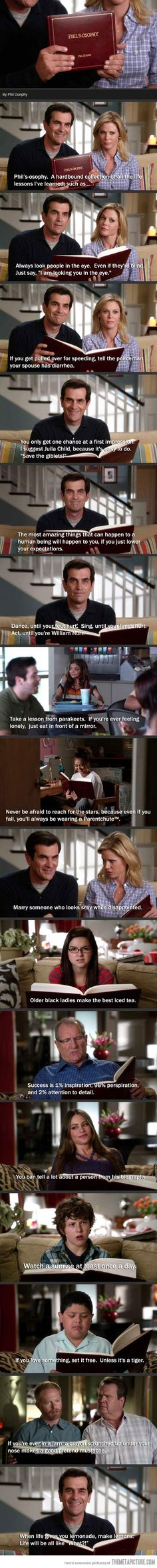 Phil's-osophy… I love modern family.