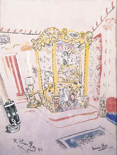 Sir Francis Rose's depiction of Cecil Beaton's bedroom