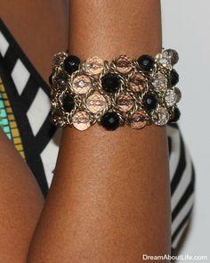 Celine Bracelet - Multi-color bead stretch bracelet Stretch Bracelets, Cuff Bracelets, Fashion Bracelets, Fashion Jewelry, Bling Bling, Gift Guide, Jewlery, Luxury Fashion, Schmuck
