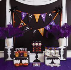 Como fazer uma festa de Halloween rápida e barata - clique para ver mais fotos desta festa de Halloween