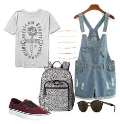 """""""{259}"""" by lilyschaefer on Polyvore featuring Vera Bradley, Vans, Forever 21 and Ray-Ban"""