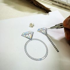 drawing of a ring Stone Jewelry, Jewelry Art, Jewelry Accessories, Jewellery Sketches, Jewelry Sketch, Jewellery Designs, Jewelry Design Drawing, Beautiful Sketches, Jewelry Illustration