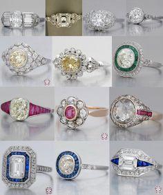Antique engagement rings!