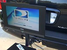 Hitch N View - Trailer Mount TV Mount - Watch TV while tailgating or camping . Tailgate Tent, Tailgate Games, Tailgating Gear, Tv Bracket, Tactical Bag, Tent Poles, Canopy Tent, Trailer Hitch, Mounted Tv