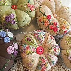 #Embroidery#stitch#needlework #프랑스자수#자수#일산프랑스자수 #호박핀쿠션