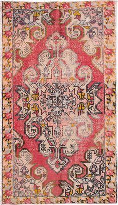 Hand-knotted-Turkish-4-039-4-034-x-7-039-8-034-Anadol-Vintage-Wool-Rug-REDUCED-PRICE