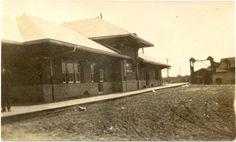 Rear view of Orillia station, post card dated 1912. Collection of Al Paterson