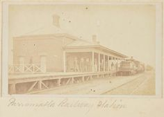 Parramatta Railway Station in Train Station, Historical Photos, Once Upon A Time, Vintage Images, Genealogy, Over The Years, Sydney, The Past, Places To Visit