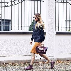 FLOATING BOHEMIAN X MAZE   leather skirt fall inspo blogger streetstyle