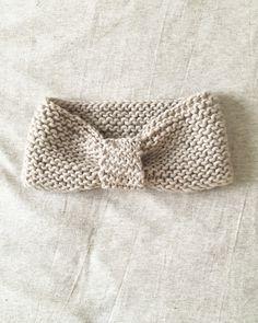 Patron headband tricot