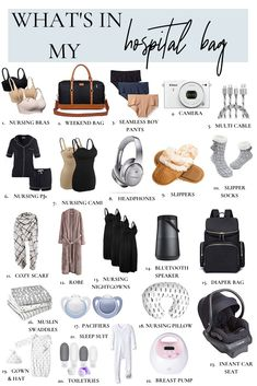 Time to pack my hospital bag! I've packed a hospital bag twice before - here's my Hospital Bag Checklist - and the things you can skip. Hospital Bag For Mom To Be, Maternity Hospital Bag, Hospital Bag For Baby, Hospital List, Hospital Checklist, Csection Hospital Bag, Delivery Hospital Bag, Newborn Hospital Outfits, Labor Hospital Bag