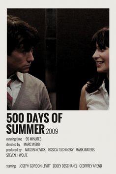 Alternative Minimalist Movie / Show Polaroid Poster – 500 days of Summer Iconic Movie Posters, Minimal Movie Posters, Iconic Movies, Old Movies, Film Posters, Minimal Poster, Vintage Movies, Film Movie, Movie Club