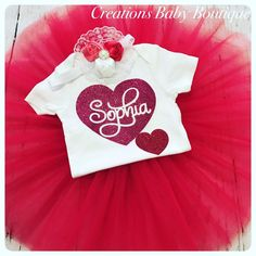 BABY VALENTINES DAY OUTFIT , BABY CLOTHES , BABY GIRL OUTFIT , BABY OUTFIT SET  | eBay