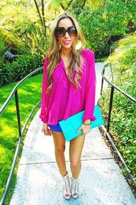 obsessed with the colour blocking!