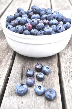fresh picked blueberries.