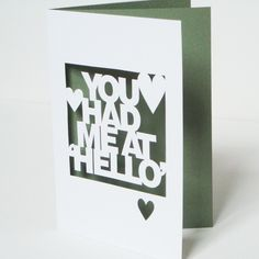 #lasercut greeting card