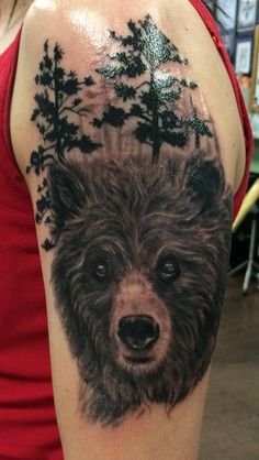 My Grizzly Bear tattoo - cayankee76, by Mike Miller at White Lotus Tattoo, Laguna Hills, CA
