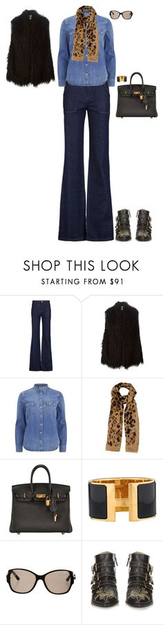 """Afternoon shopping at the mall"" by stylev ❤ liked on Polyvore featuring See by Chloé, 8PM, Levi's, Burberry, Hermès, Cartier and Chloé"