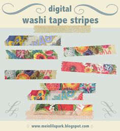 MeinLilaPark – digital freebies: free digital vintage tape stripes scrapbooking embellishment – ephemera washi tape clipart – freebie