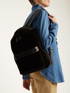 Falabella Go medium velvet backpack by Stella Mccartney