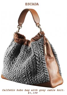 :)   I've wanted a cable knit purse forever