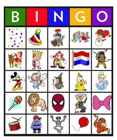 Feest: Bingo carnaval 4 School Plan, Spring Theme, Bingo Cards, Circus Party, Matching Games, Creative Kids, Adult Coloring Pages, Games For Kids, Cool Kids