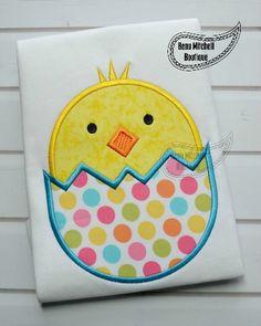Easter Chick - Beau Mitchell Boutique  4x4         4,190  stitches 5x7          7,271  stitches 9x9        8,443  stitches