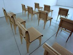 shigeru ban: exhibition design of visual dialogue at design sight Cardboard Chair, Cardboard Paper, Outdoor Chairs, Outdoor Furniture Sets, Outdoor Decor, Paper Furniture, Papercrete, Shigeru Ban, Paper Products