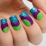 colourful  Summer nail art
