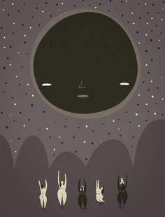 man in the moon illustration - Google Search