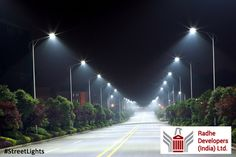#StreetLights can be used to promote security and to increase the quality of life by artificially extending the hours in which it is light so that activity can take place. Street lighting also improves safety for drivers, riders, and pedestrians. #RadheSerene #ResidentialPlotsinAhmedabad #RadheDevelopers Visit: http://www.radhedevelopers.com/projects/radhe-serene/