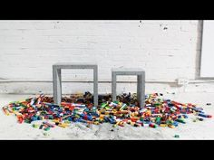 He Pours Concrete Into This LEGO Structure. When He's Done? I WANT THIS IN MY HOUSE! | Diply
