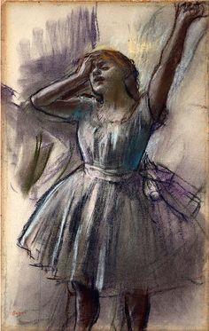 Edgar Degas, Dancer Stretching (c. 1882–85) on ArtStack #edgar-degas #art