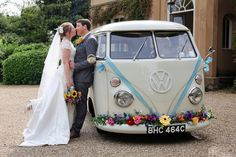 Would you like to stand out from the rest but still want to be a little traditional with a white wedding car Why not opt for our cute little 1965 vintage VW camper van we. Wedding Vans, Wedding Car Hire, Wedding Company, Boho Wedding, Wedding Ideas, Woodland Wedding, Wedding Blog, Wedding Photos, Christmas Photo Booth