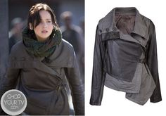Shop Your Tv: Catching Fire: Katniss' Brown Assymetical Leather Jacket