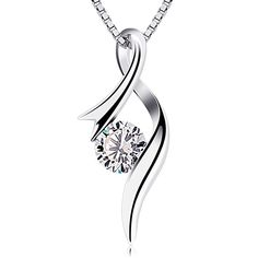 c46a517d1 B.Catcher Necklaces 925 Sterling Silver Pendant Necklaces Cubic Zirconia  Twist Heart Jewellery #giftforher