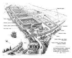 Pianta del Palazzo di Diocleziano a Spalato. 293-305 d.C