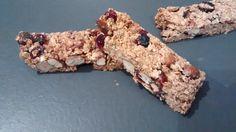 Barres de céréales au sarrasin, amande, noisette et cranberry