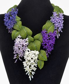 "Necklace | Marsha Wiest-Hines. ""Picnic in May on Lilac Way"""