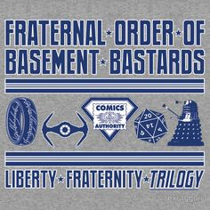 """Fraternal Order of Basement Bastards"" T-Shirts & Hoodies by rexraygun 