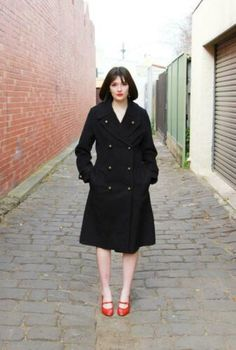 VINTAGE 1970s FRENCH Military Coat / Made in France / Paris NAUTICAL Coat / Wool  | eBay#1970s #coat #ebay #france #french #military #nautical #paris #vintage #wool Black Coat Outfit, Hogwarts Uniform, Police Uniforms, Paris France, Silk Dress, Outfit Of The Day, Military, Fashion Outfits, 1970s